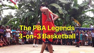 The PBA Legends (Jojo Lastimosa, Benjie Paras, Alvin Patrimonio, Jerry Codinera, Ronnie Magsanoc and Johnny Abarrienntos) ...