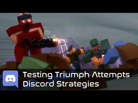 Trying out more Strategies in the Triumph Attempts Discord  Tower Battles [ROBLOX]