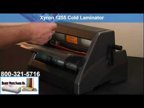 Demo - Xyron 1255 Cold Laminator benefits- Bright White Paper Co