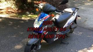 1. Kymco 2015 Agility 50 review and tips