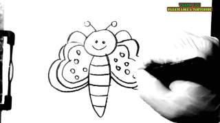 How to draw an easy butterfly for kids