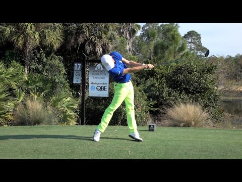 JUSTIN THOMAS 120fps SLOW MOTION FACE ON DRIVER GOLF SWING