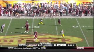 DJ Swearinger vs  Michigan  (2012)