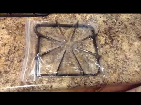 How to remove tough grime from stove grates - Very Easy method