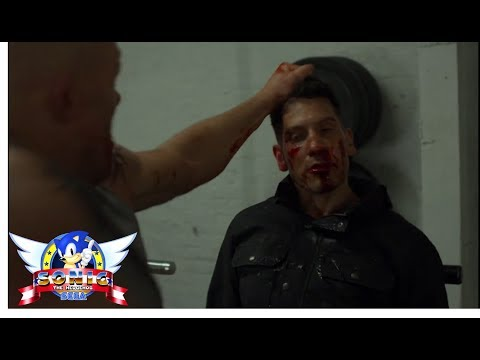 The Punisher Season 2 Gym Fight Scene With Sonic Sound Effects