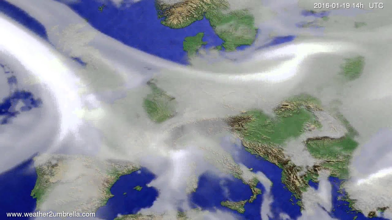 Cloud forecast Europe 2016-01-15