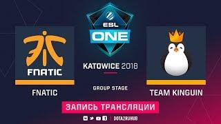 Fnatic vs Kinguin, ESL One Katowice, game 2 [Adekvat, V1lat]