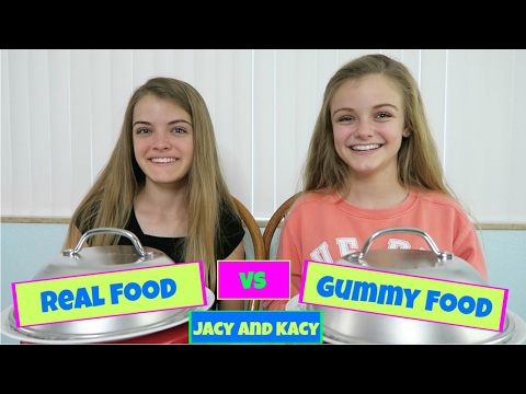 Video Real Food vs Gummy Food Challenge ~ Jacy and Kacy download in MP3, 3GP, MP4, WEBM, AVI, FLV January 2017