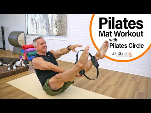 Pilates Mat With Pilates Circle 2