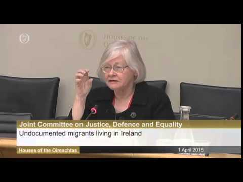 Aine Ni Chonaill and Ted Neville address Oireachtas Committee on illegal Migrants