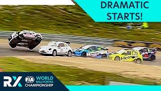 Most Dramatic Rallycross Starts! | FIA World Rallycross