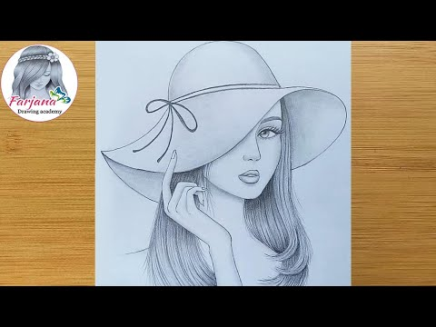 Play this video How to draw a girl wearing hat - step by step  Pencil sketch  bir kбz nasбl izilir