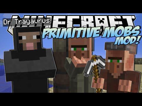Minecraft | PRIMITIVE MOBS MOD! (SheepMen, Smart Villagers & More!) | Mod Showcase
