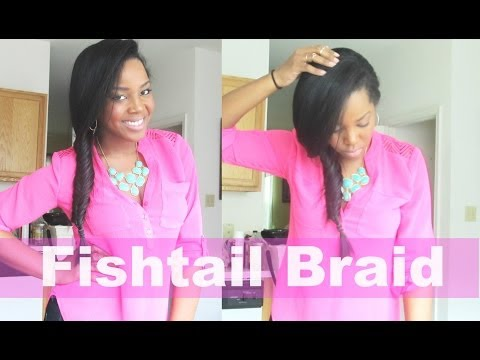 Fishtail Braid On Flat Ironed Natural Hair