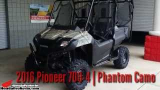 9. 2016 Honda Pioneer 700-4 Camo UTV / Side by Side ATV / SxS | Walk Around Video (SXS700M4)