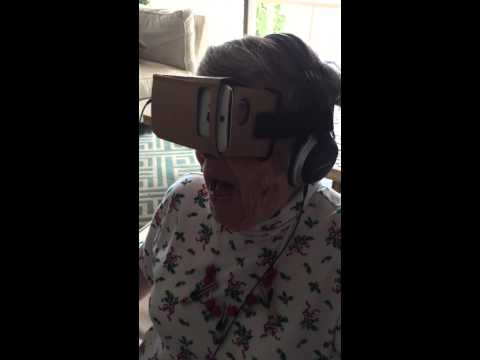 Grandma LOVING Virtual Reality!