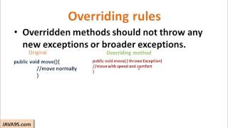 Overriding In Java | Java Beginner Tutorials By Java9s