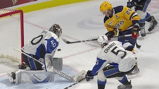 Raddysh uses a slick move to go top shelf on the Sea Dogs by Sportsnet Canada