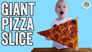 GIANT PIZZA SLICE by  My Virgin Kitchen