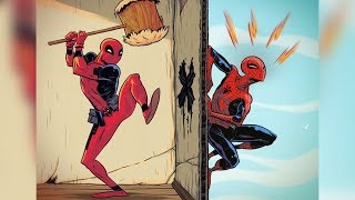 50+ Hilariously Funny Deadpool Comics & Art. Marvel.