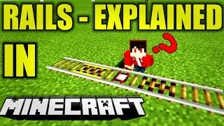 Minecraft Rail Mechanics | Explained  [Minecraft Game Mechanics Tutorial]