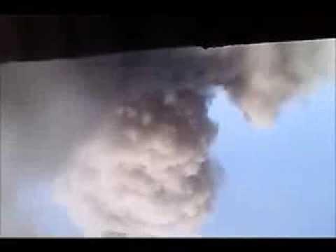 لحظة وصول صاروخ اطلقه الحوثيون على دماج