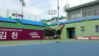 Gimcheon-si South Korea  city photos : Thomas Shubert Serve Practice in Gimcheon-si, South Korea