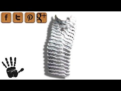 Pompon Puschel Schal stricken – kostenlose Strickanleitung Linkshänder Anleitung