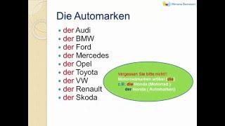 German Grammar  -  Artikel - Der - Die - Das -