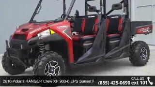 3. 2016 Polaris RANGER Crew XP 900-6 EPS Sunset Red  - RideN...