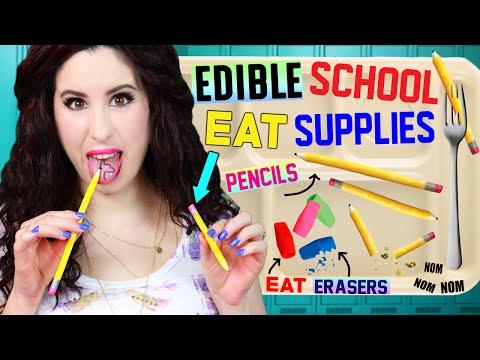 DIY Edible Pencils, Erasers & School Supplies | EAT Pencils | How To Make Back To School EATABLE! (видео)