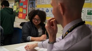 LEARN MORE HERE: http://ow.ly/wkQD3006SLE Matt Whitton and Victoria Wells teach science in different, smaller school...