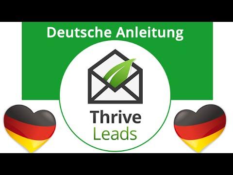 2. Thrive Leads Review – Deutsche Anleitung Newsletterformular erstellen mitThrive Leads