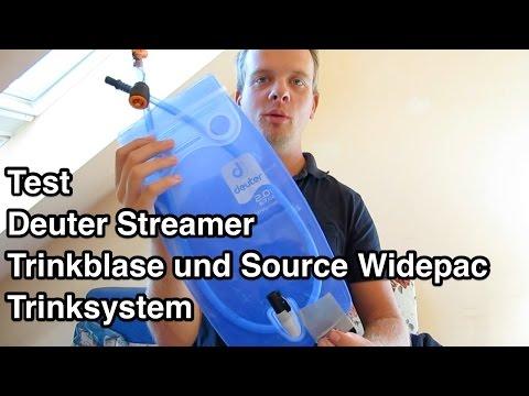 Test Deuter Streamer Trinkblase vs Source Widepac Trinksystem | Trinksystem Test | Trinkblase Test