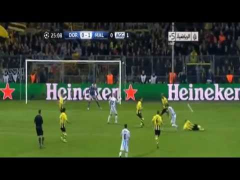 borussia dortmund vs malaga 3-2 2013 Goals & Highlights (9/4/2013) HD (видео)