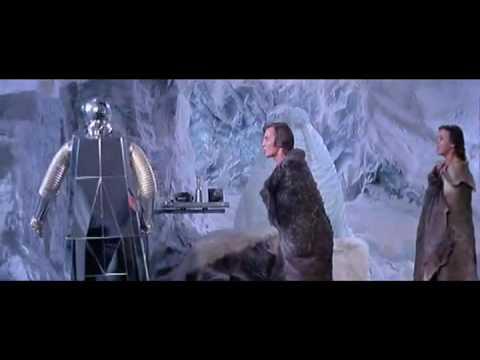 silver ice robot Logan's Run