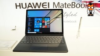 Huawei Matebook E Hands On http://www.mobilegeeks.com Huawei has launched a new 2 in 1 notebook which is a tablet that docks into a keyboard folio. The folio...