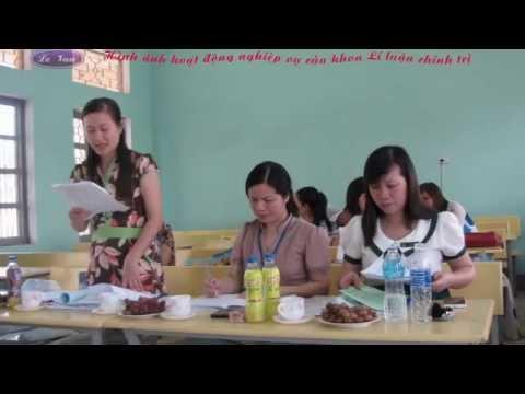 Video về hình ảnh hoạt động nghiệp vụ của khoa LLCT