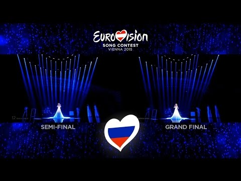 Polina Gagarina - A Million Voices | Semi-Final vs Grand Final (Russia - Eurovision 2015) 50fps (видео)