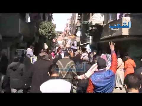 """ثوار المطرية يهتفون: """"ياسيسى يابن الهبلة رايح تعمل ايه فى ليبيا"""""""