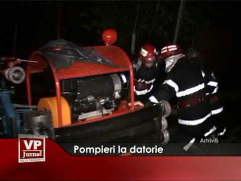 Pompieri la datorie