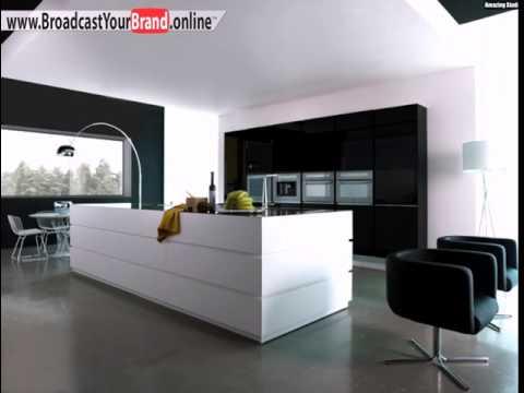 Moderne Küche schwarz/weiß 2062