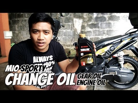 Yamaha Mio Sporty: How to Change Oil | Engine Oil | Gear Oil |