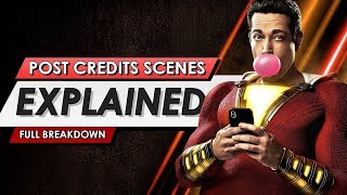 Shazam! End Credit Scenes Explained! SPOILERS!