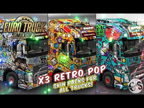 Retro Pop Skin Packs for All Standard Trucks + 3 Custom Trucks