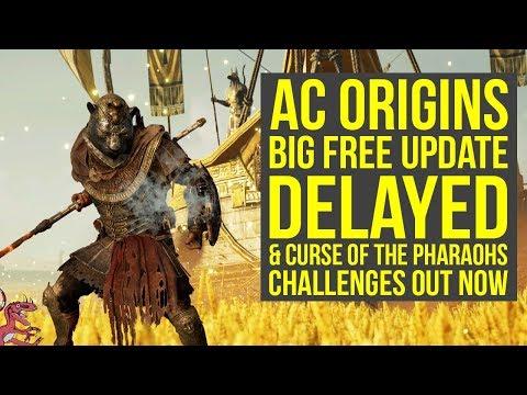 Assassin's Creed Origins DLC New Quest DELAYED & New AC Origins Curse of the Pharaohs Info (видео)