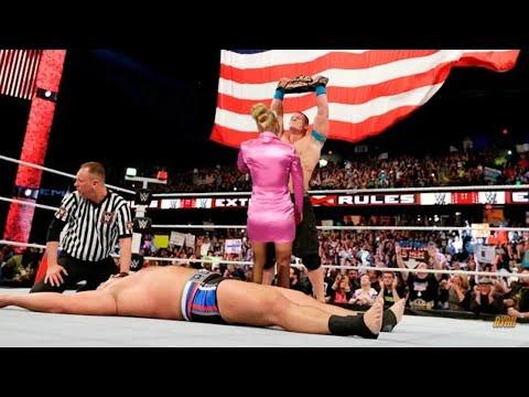 WWE John Cena vs Rusev I Quit Match - Lana Betrays