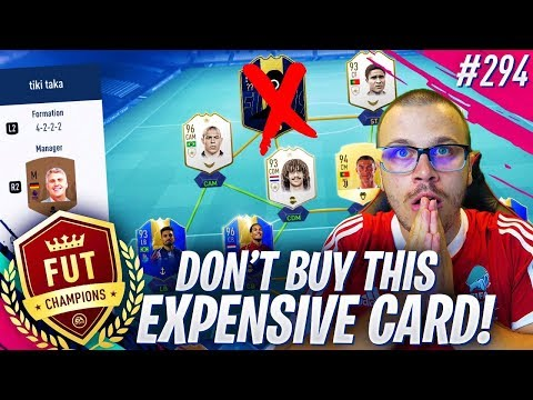 FIFA 19 DON'T BUY THIS EXPENSIVE CARD for FUT CHAMPIONS! IT'S GAME OVER!
