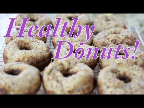 donut - HEALTHY DONUT? Not an oxymoron. I made these DELICIOUS DONUTS without deep frying or adding sugar! Get my dress: http://bit.ly/blogilatesdress ♥ CHECK OUT MY...