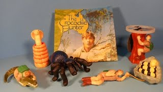 2002 ANIMAL PLANETS THE CROCODILE HUNTER SET OF 5 BURGER KING KID'S MEAL TOY'S VIDEO REVIEW